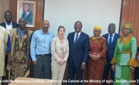 AFAAS Board members advocate in Côte d'Ivoire