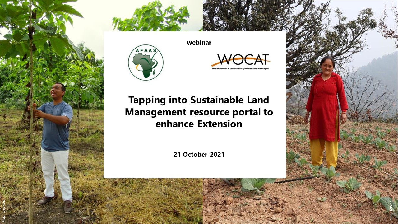 Tapping into Sustainable Land Management resource portal to enhance Extension